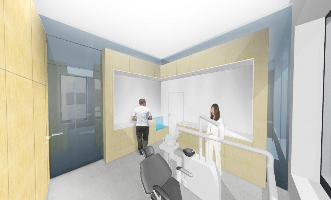 Ausbau einer Dentalpraxis Ralph Manthey Architekten Ingenieure Berlin